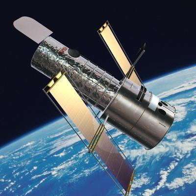 3d hubble telescope satellite model